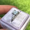 1.19ct Art Deco Carre Cut Diamond Solitaire 6