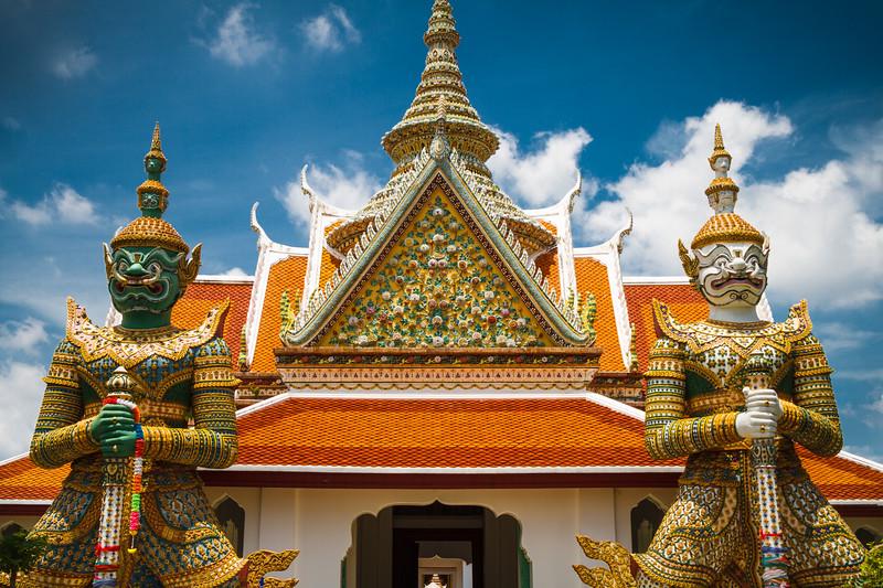 At the entrance of Wat Arun.