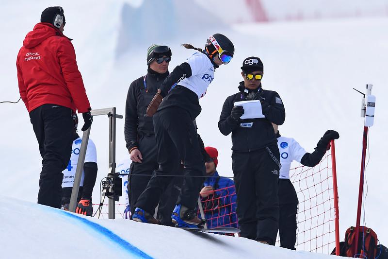 13-3-2017 SNOWBOARDEN: 2017 WORLD PARA SNOWBOARD WORLD CUP FINALS: PYEONGCHANG Goud voor Bibian Mentel. Foto: Mathilde Dusol