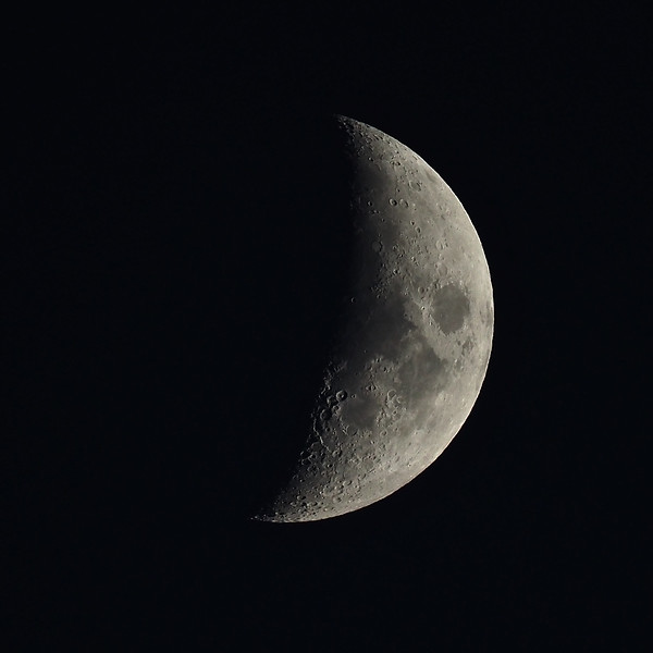Waxing crescent 36%