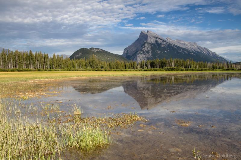 Vermillion Lakes, mountain reflections