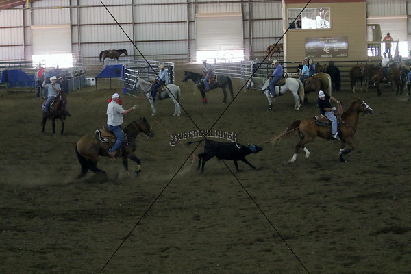 Llano County Team Roping Second Go