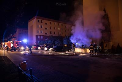 2017-05-23 - Mszczonów - Pożar kiosku przy ul. Jeżynowej