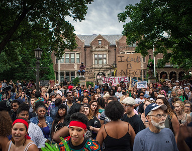 Philando Castile Gathering on Summit Ave.