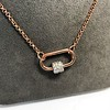 Marla Aaron Stoned Lock for Jewels by Grace Exclusive, Rose Gold 27