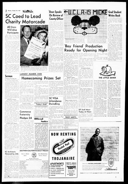 Daily Trojan, Vol. 49, No. 25, October 28, 1957