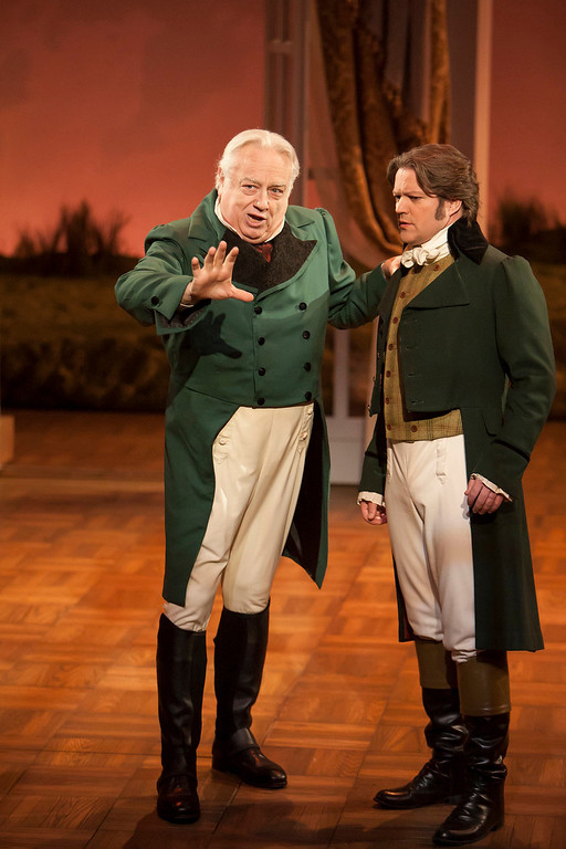 ". Ed Dixon as Sir John and Robert Petkoff as Colonel Brandon in ""Sense & Sensibility The Musical.\""   Photo by Jennifer M. Koskinen"