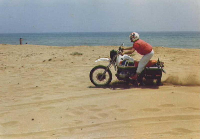 Unica sulla sabbia...a manetta sempre!
