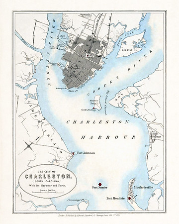Vintage Charleston SC Harbor Charts