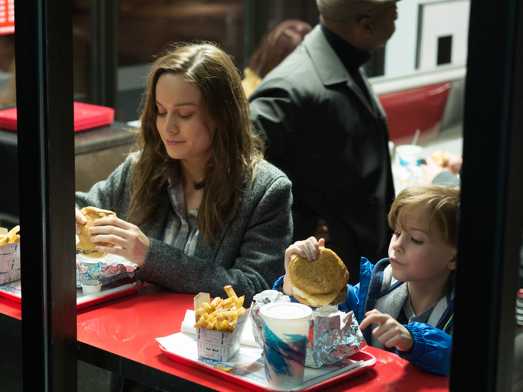 """. In this image released by A24 Films, Brie Larson, left, and Jacob Tremblay appear in a scene from the film, \""""Room.\"""" The 88th annual Academy Awards nominations will be announced on Thursday, Jan. 14, 2016, at the Academy of Motion Picture Arts and Sciences in Beverly Hills, Calif.  The Oscars will be presented on Feb. 28, 2016, in Los Angeles. (A24 Films via AP)"""