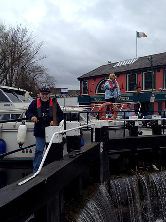2014-04-23 'Miss Eva' arrives in Dublin via the Grand Canal - photos by Joyce Perdue