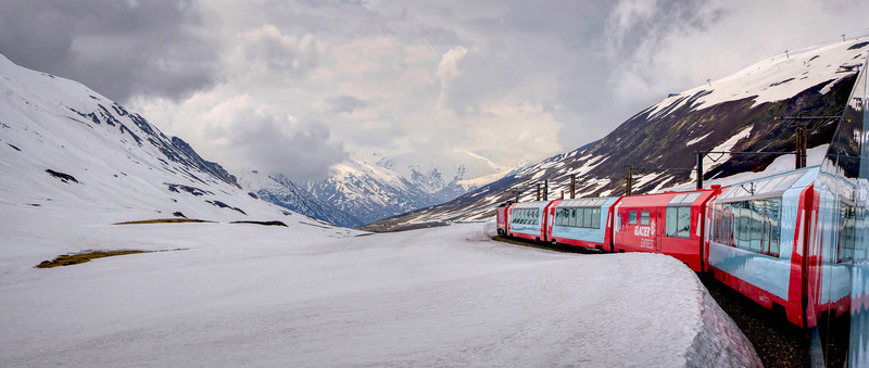 Glacier Express through Switzerland