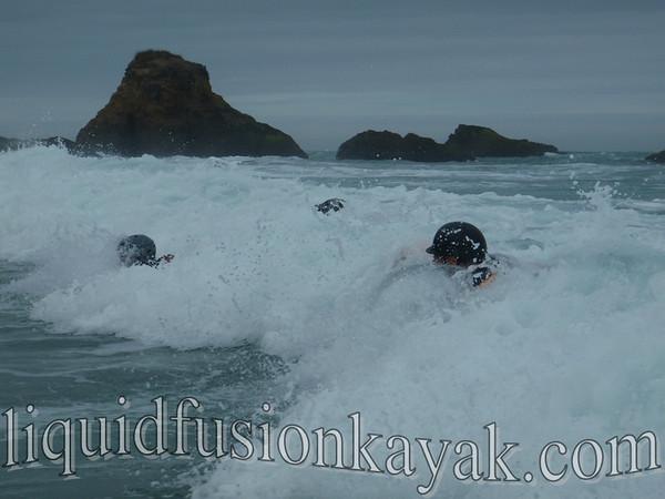Sea Kayaks in the Surf 9.2010