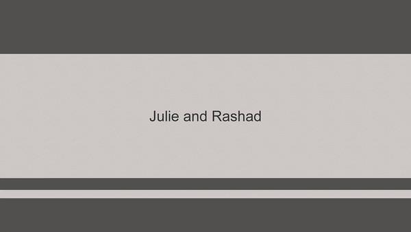 Julie and Rashad slideshow