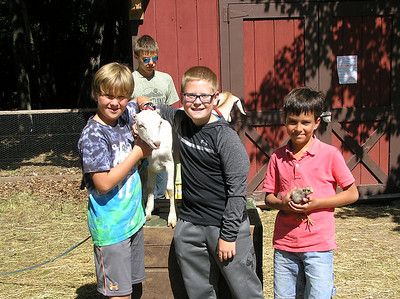 Zoo class heads to Woodland Farm