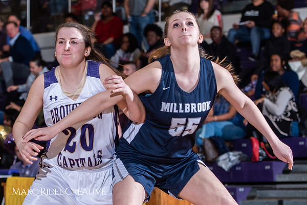 Broughton girls varsity basketball vs Millbrook. February 15, 2019. 750_7350