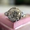 2.23ct Old European Cut Diamond Edwardian Solitaire GIA I VS1 16