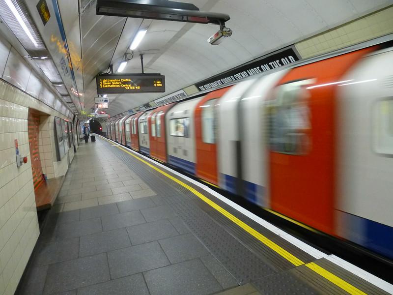 June 23/13 - In Warren Street Underground station. Last Underground trip before going home.