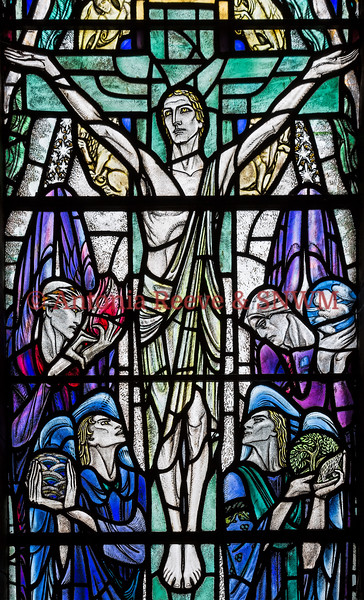 Detail of Shrine window 4 The Cross of Crucifiction