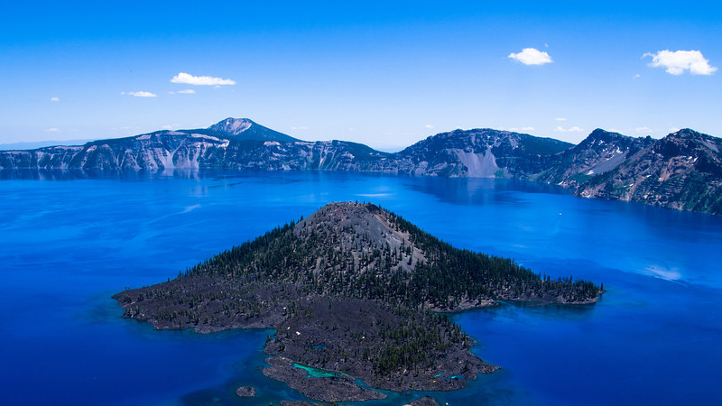 Wizard Island at Crater Lake.