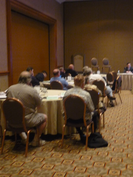 members listen to an SEC presentation by Stephen Stroup