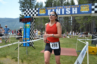 Donner Lake Triathlon 2014 Olympic and Half Finish