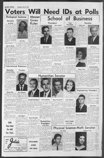 Daily Trojan, Vol. 54, No. 90, March 27, 1963