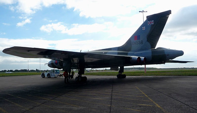 XH558 goes indoors for the Winter...........26th September 2014