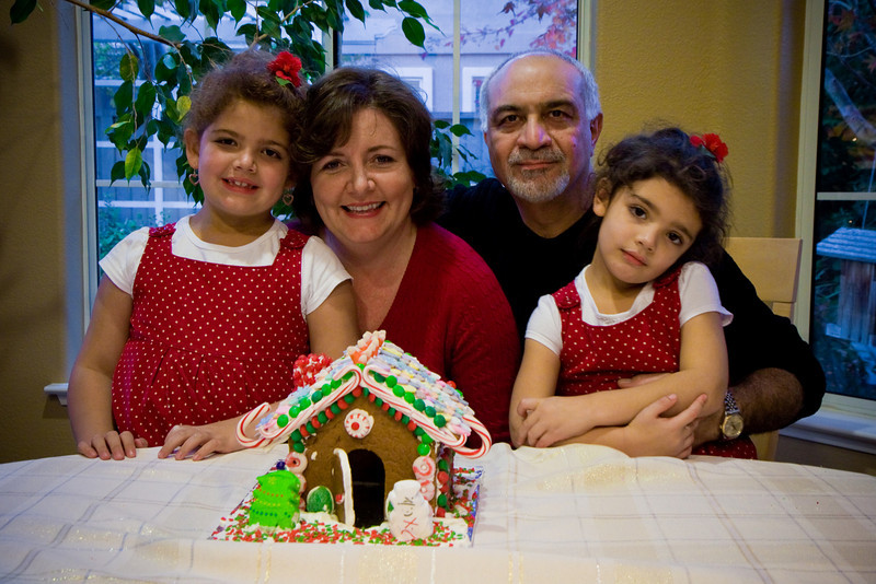 Julia, Jane, Samir, and Sophia plan to smash their gingerbread house when the time comes. Hammer? Wrecking ball? Explosives?