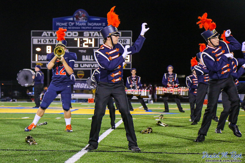 The Powers Catholic Marching Band Performs at Atwood Stadium