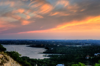 Sunset Over Lake Travis on  the Summer Solstice