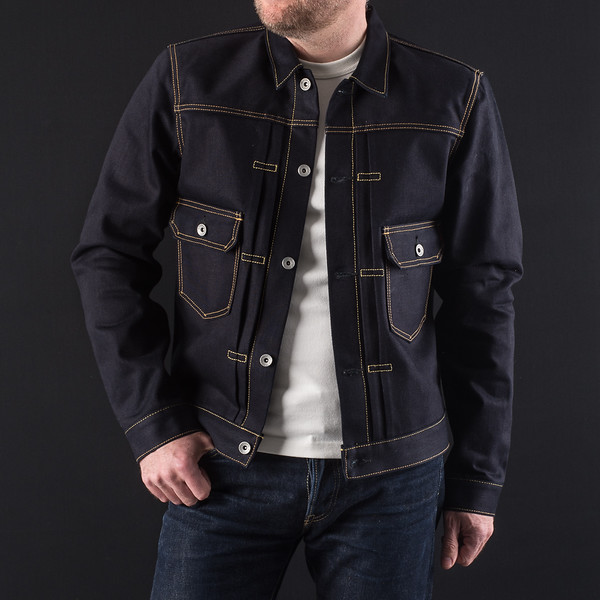 Indigo-Indigo 18oz Raw Selvedge Denim Type ll Jacket-27012.jpg