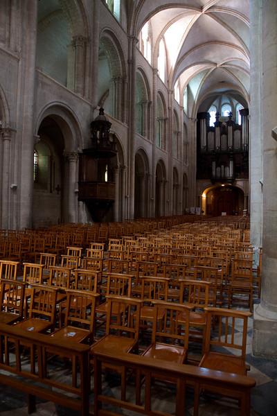 Caen Abbaye-aux-Hommes Nave Elevation
