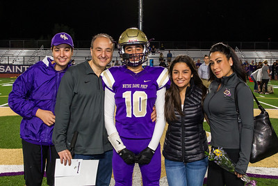 NDP SENIOR NIGHT FAMILIES, Fall, October 16, 2015