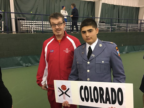 Cadets Volunteer for the Special Olympics Tennis Tourney