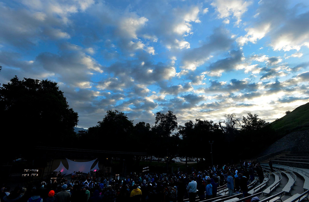 . Over 600 people gathered to celebrate Easter Sunrise services at the Roosevelt Bowl in San Bernardino March 31, 2013.  GABRIEL LUIS ACOSTA/STAFF PHOTOGRAPHER.