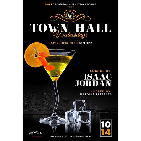 Town Hall Wednesdays HH @ HarlotSF 10.14.15