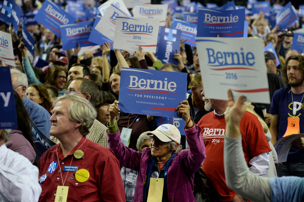 . at the Colorado Democratic State Convention at the Budweiser Events Center April 17, 2016. (Photo by Andy Cross/The Denver Post)