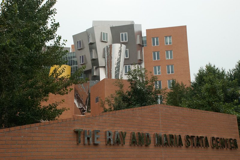 the M.I.T. Stata Center is a pretty amazing building by Frank Gehry. It is located near Kendal Square in Cambridge.