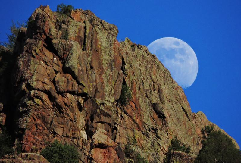 Moon Over Waterton