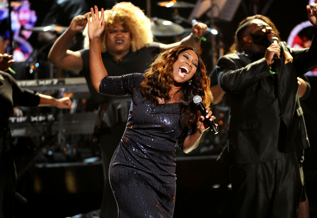 . Yolanda Adams performs at the BET Awards at the Nokia Theatre on Sunday, June 29, 2014, in Los Angeles. (Photo by Chris Pizzello/Invision/AP)