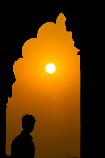 Silhouette And The Sun, Red Fort, Delhi, India