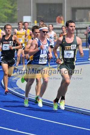 Men's 5000 Meter Final, Heat 1 - 2012 GLIAC Outdoor T&F