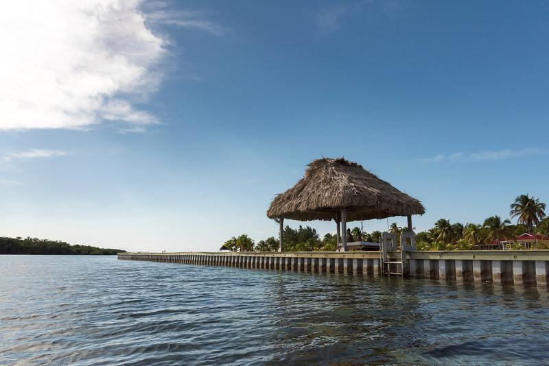 Pier on the sea, Turneffe Island, Belize