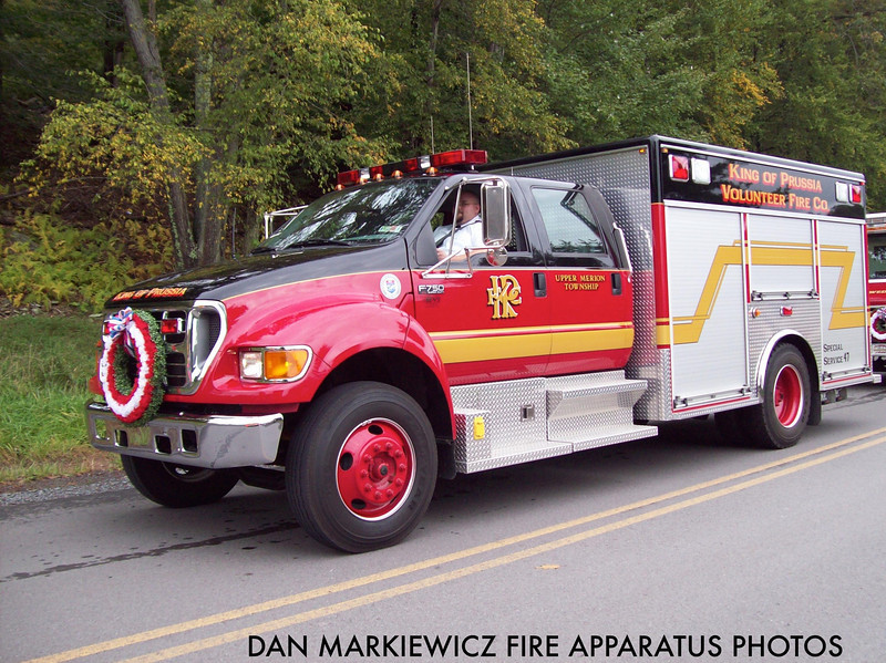 KING OF PRUSSIA FIRE CO. SPECIAL SERVICE 47 2002 FORD/EVI TRAFFIC UNIT