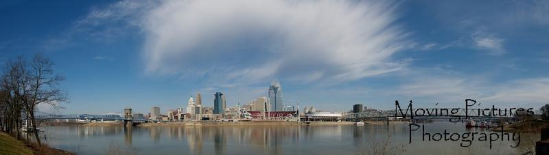 Cincinnati Skyline with impressive cloud formation