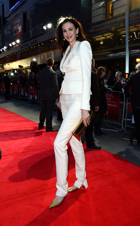 . L\'Wren Scott poses at London Film Festival American Express Gala The Rolling Stones - Crossfire Hurricane at Odeon West End on Thursday October 18, 2012  in London. (Photo by Jon Furniss/Invision)