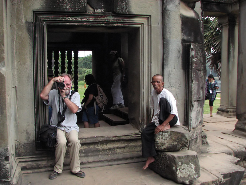 Larry at Angkor Wat. Larry's the one on the left.