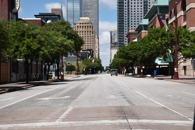 Deserted Downtown Houston During the Chinese Coronavirus Pandemic