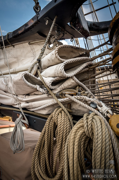 Folded Sail    Photography by Wayne Heim